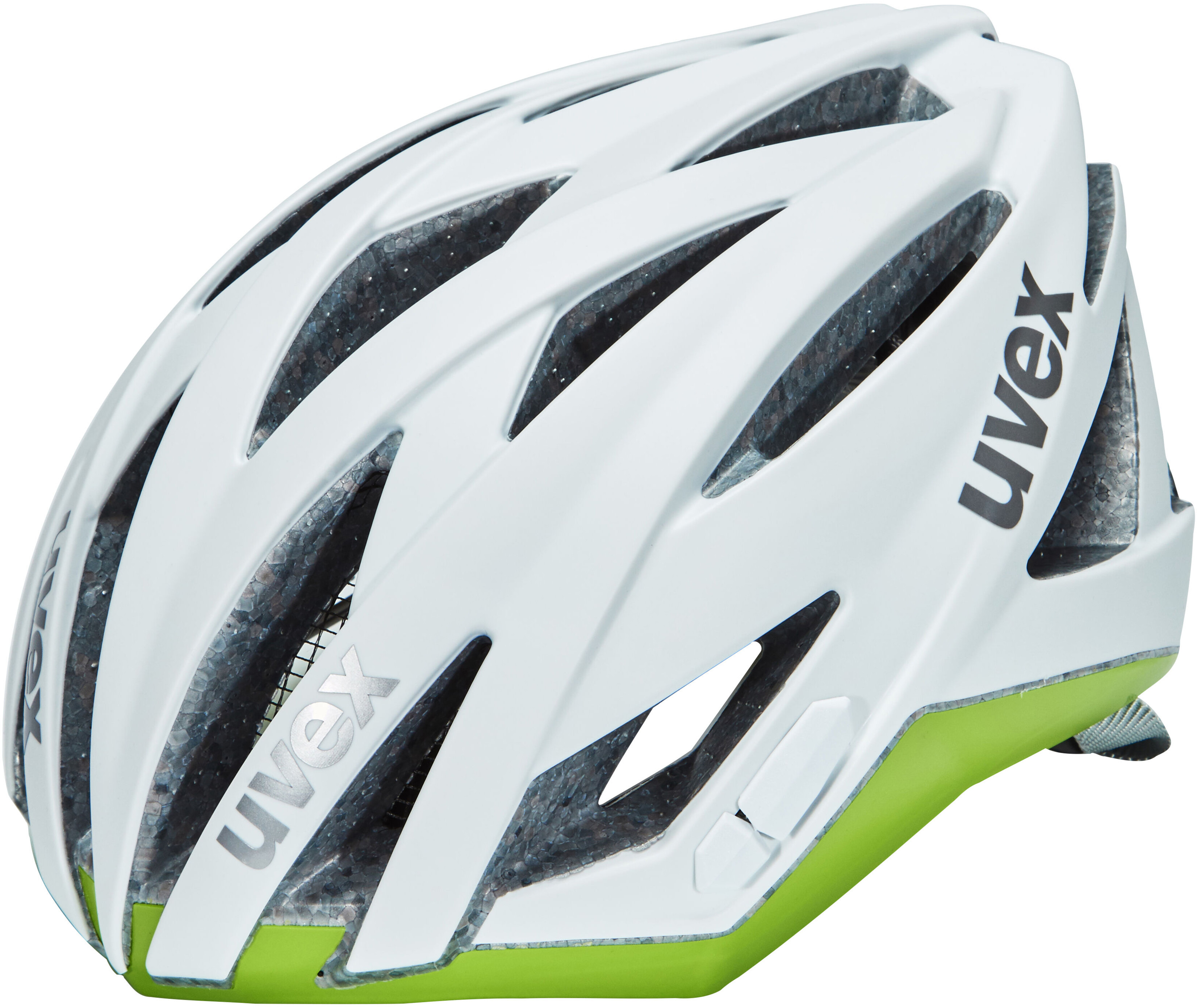 uvex ultrasonic race helm damen white mat green online. Black Bedroom Furniture Sets. Home Design Ideas